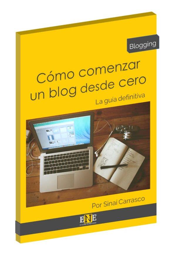 Portada cómo comenzar un blog desde 0